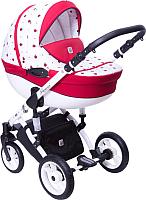 Детская универсальная коляска Dada Paradiso Group Glamour Alu 3в1 (Божья коровка) -
