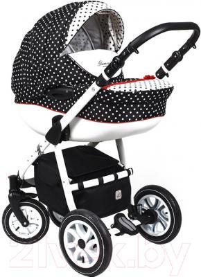 Детская универсальная коляска Dada Paradiso Group Glamour Dots Alu 3 в 1