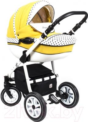 Детская универсальная коляска Dada Paradiso Group Glamour Alu 3в1 (желтый)