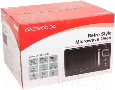 Микроволновая печь Daewoo KOR-6LBRB - коробка