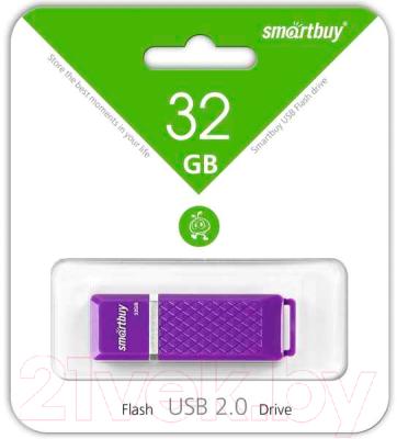 Usb flash накопитель SmartBuy Quartz 32Gb (SB32GBQZ-V)
