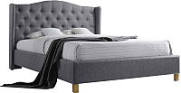 Двуспальная кровать Signal Aspen 160x200 (серый) -