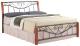 Двуспальная кровать Signal Parma 140x200 (античная черешня/черный) -