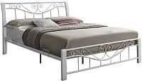 Двуспальная кровать Signal Parma 160x200 (белый/белый) -