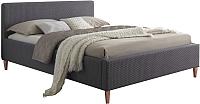 Двуспальная кровать Signal Seul 160x200 (серый) -