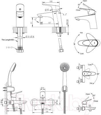 Смеситель Bravat Drop-D F00312
