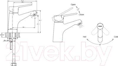 Смеситель Bravat Eco-K F00313C - схема