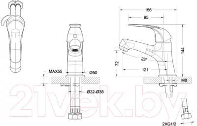 Смеситель Bravat Fit F00315C - схема