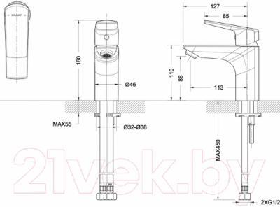 Смеситель Bravat Real F1121179CP - схема