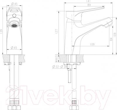 Смеситель Bravat Eco-D F193158C - схема
