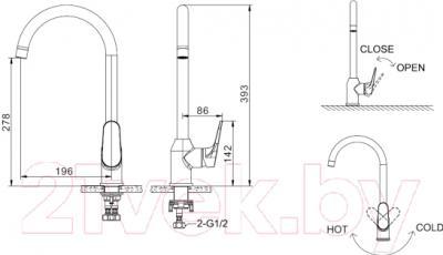 Смеситель Bravat Eler F7191238CP - схема
