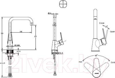 Смеситель Bravat Eco-D F793158C-1