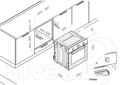 Электрический духовой шкаф Korting OKB560CFX