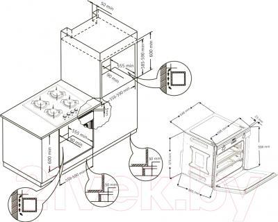 Электрический духовой шкаф Korting OKB792CFW