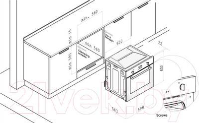 Электрический духовой шкаф Korting OKB792PFX