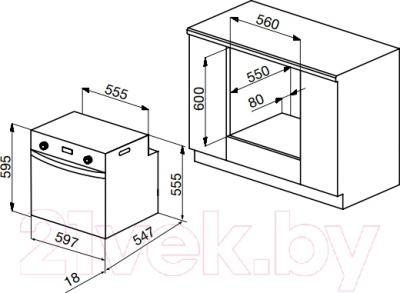 Электрический духовой шкаф Korting OKB762CMX