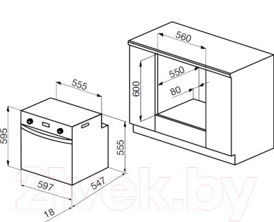 Электрический духовой шкаф Korting OKB9123CMGW