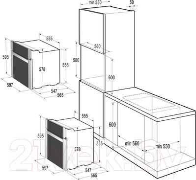 Электрический духовой шкаф Korting OKB993CMX