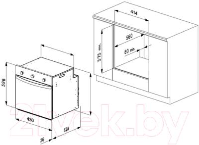 Электрический духовой шкаф Korting OKB4504CX