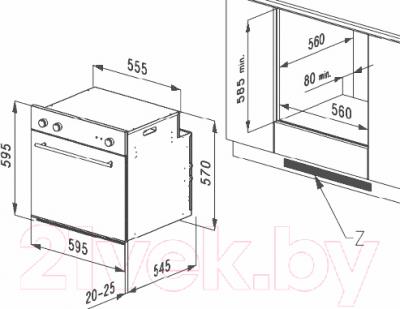 Электрический духовой шкаф Korting OKB482CRSI
