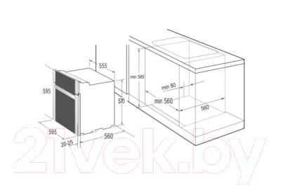Электрический духовой шкаф Korting OKB482CRSC