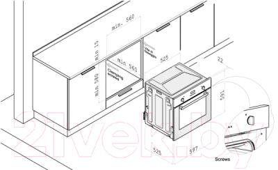 Газовый духовой шкаф Korting OEG771CFX