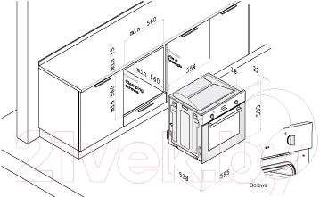 Газовый духовой шкаф Korting OGG741CRN