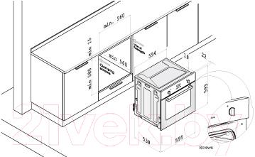 Газовый духовой шкаф Korting OGG741CRB