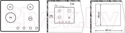 Газовая варочная панель Korting HG665CTW