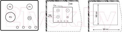 Газовая варочная панель Korting HG665CTRB