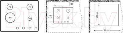 Газовая варочная панель Korting HG665CTRN