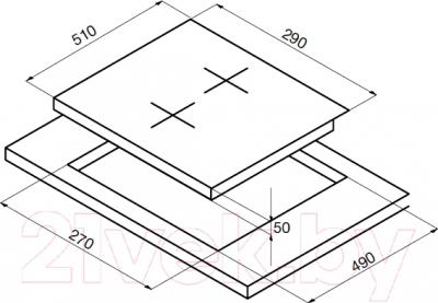 Индукционная варочная панель Korting HI32002B