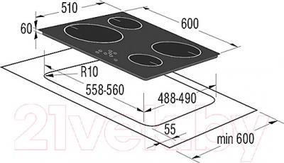Индукционная варочная панель Korting HI6400BCH