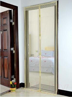 Москитная дверь Lixin Белая - в интерьере