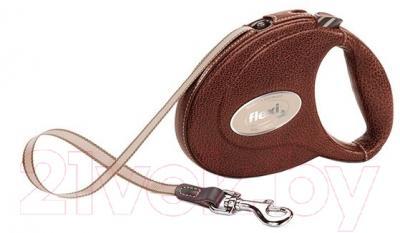 Поводок-рулетка Flexi Luxus Leather CC FLX216 (M, коричневый)