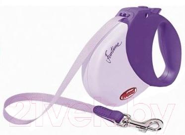 Поводок-рулетка Flexi Funtime FLX021 (М, пурпурный)