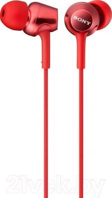 Наушники-гарнитура Sony MDR-EX250APR (красный)
