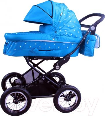 Детская универсальная коляска Babyhit Evenly 2 в 1 (голубые звезды)