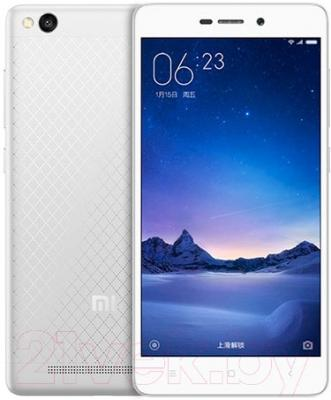 Смартфон Xiaomi Redmi 3 16GB (серебристый/белый)