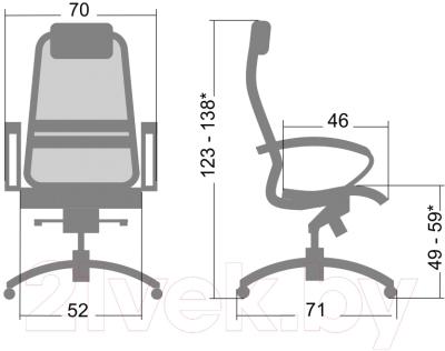 Кресло офисное Metta Samurai SL1 (черный)