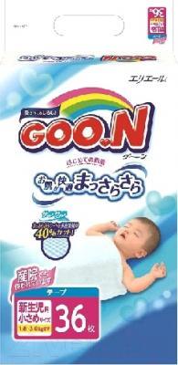 Подгузники Goo.N N/B 1.8-3кг (36шт)