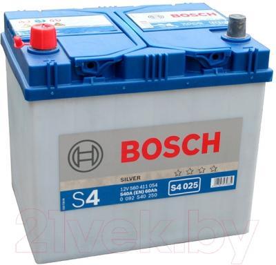 Автомобильный аккумулятор Bosch S4 025 560 411 054 JIS (60 А/ч)