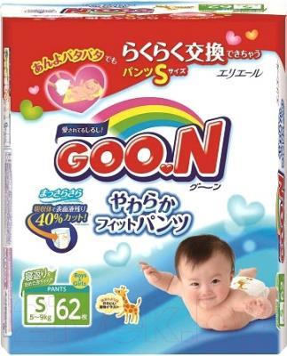 Подгузники-трусики Goo.N S 5-9кг (62шт)