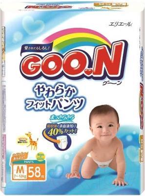 Подгузники-трусики Goo.N M 7-12кг (58шт)