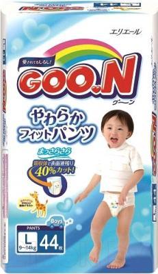Подгузники-трусики Goo.N L Boy 9-14кг (44шт)