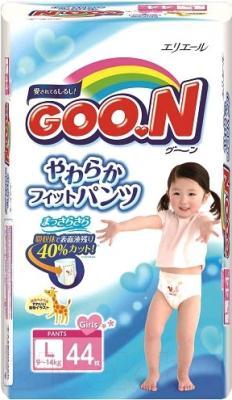 Подгузники-трусики Goo.N L Girl 9-14кг (44шт)