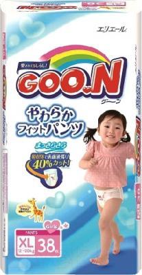 Подгузники-трусики Goo.N XL Girl 12-20кг (38шт)