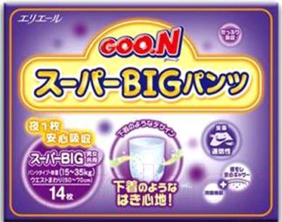 Подгузники-трусики Goo.N Super Big 15-35кг (14шт)