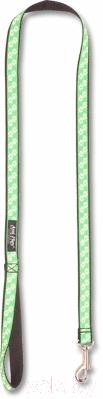 Поводок Ami Play NX 150/2 (лапы на зеленом фоне)