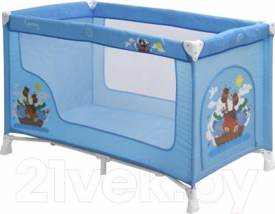 Кровать-манеж Lorelli Nanny 1 Blue Adventure (10080181610)